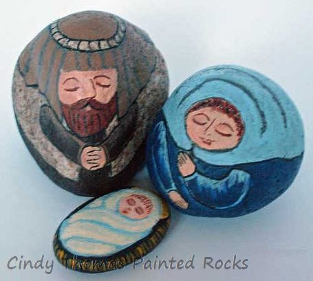 Large Geometric-Shaped Rock Nativity