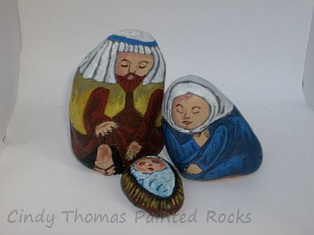 Small Rocks Nativity Set