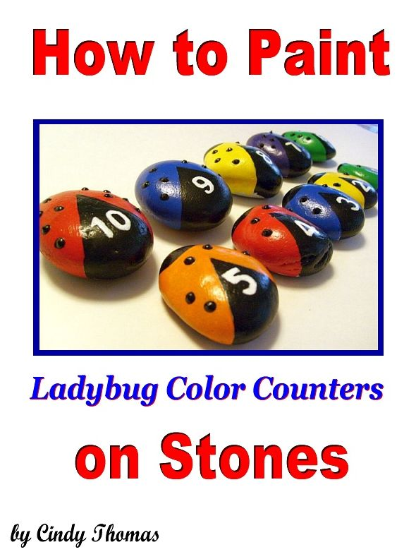 How to Paint Ladybug Color Counters on Stones