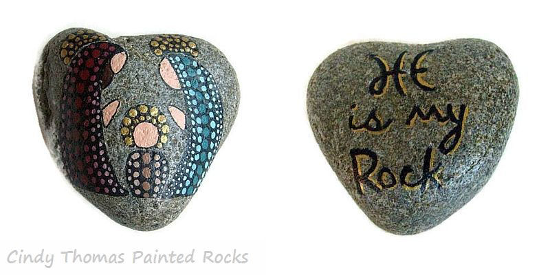 Reversible Dotted Painted Rock Nativity