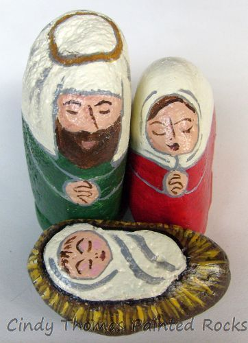 Small Red-Green Nativity Set